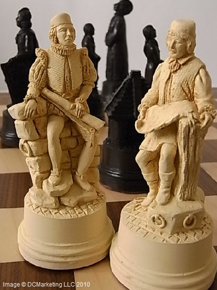 Columbus Plain Theme Chess Set